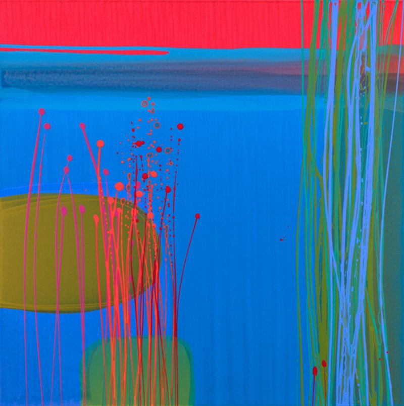 Majorelle I painting by Charlotte Cornish, Contemporary Artist, Cambridge